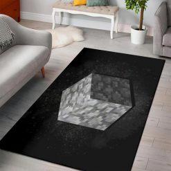 Minecraft cobblestone rug