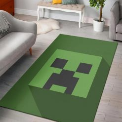 Minecraft creeper head rug