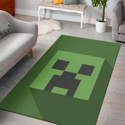 Minecraft creeper head rug