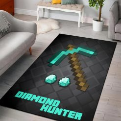 Minecraft Diamond Hunter Rug