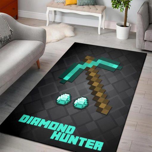 Minecraft Diamond Hunter Rug