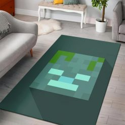 Minecraft Drowned Head Rug
