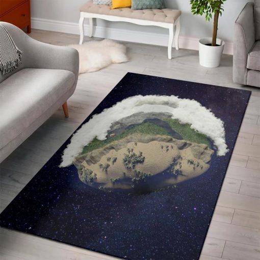 minecraft earth cube rug