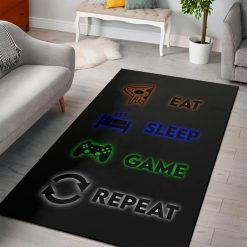 Minecraft Eat Sleep Game Repeat Rug