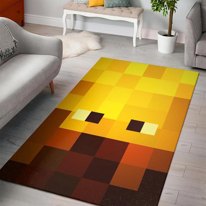 Minecraft Face Blaze Fan Art Rug