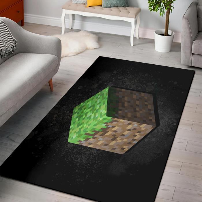Minecraft Grass Block Rug