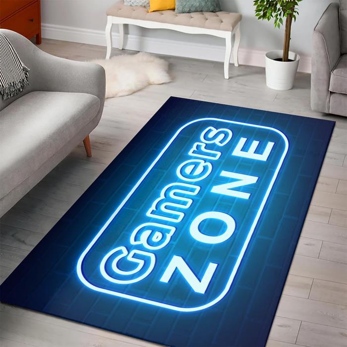 Minecraft Gamer Zone Neon Gamer Zone Rug