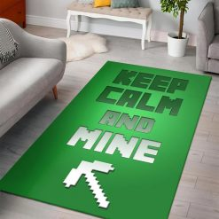 Minecraft Just MINE! Rug