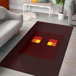 Minecraft Magma Cube Head Rug