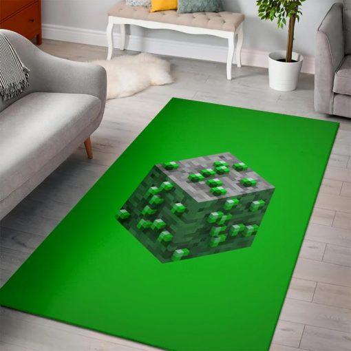 Minecraft Emerald Ore Rug