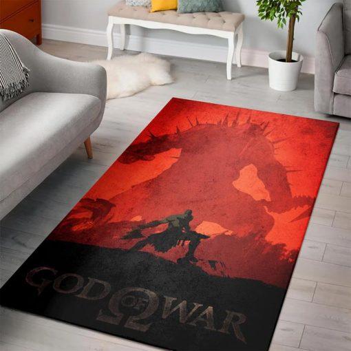 Young Kratos God of War of Zelda Rug