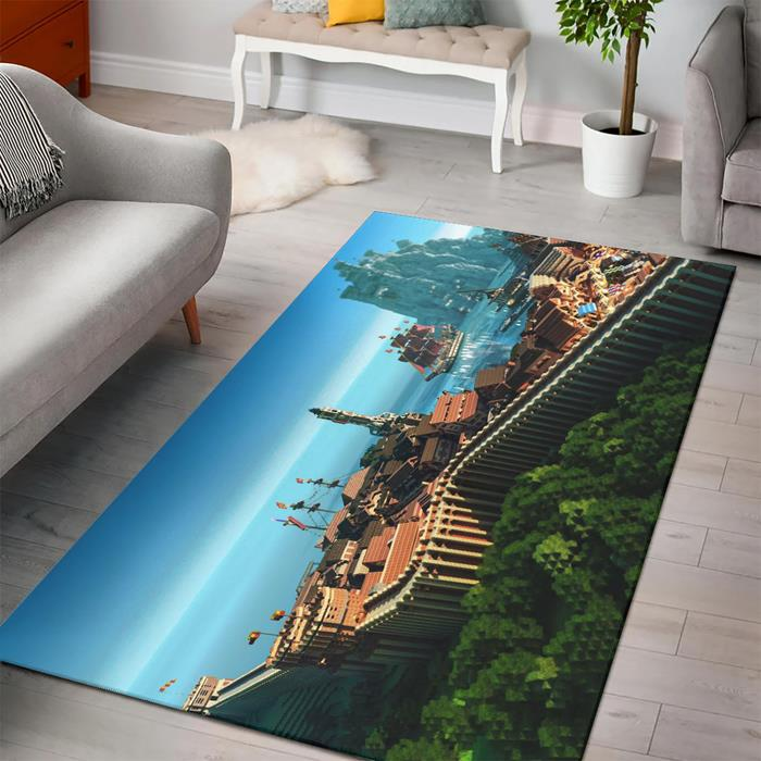 Minecraft Game Posters Rug