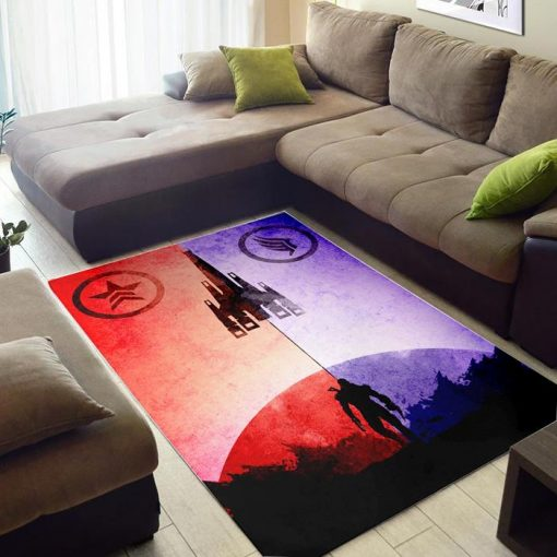 Red and Blue Mass Effect of Zelda Rug