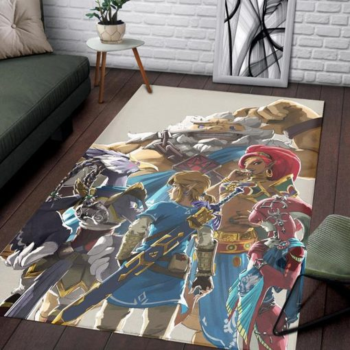 Legend Zelda Breath Charac Rug