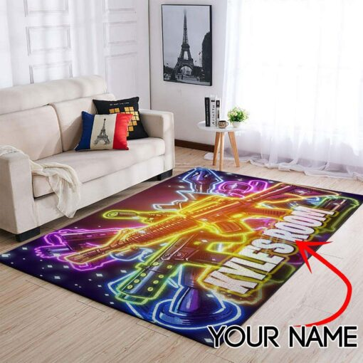 Customized Name Fortnite Gaming Rug