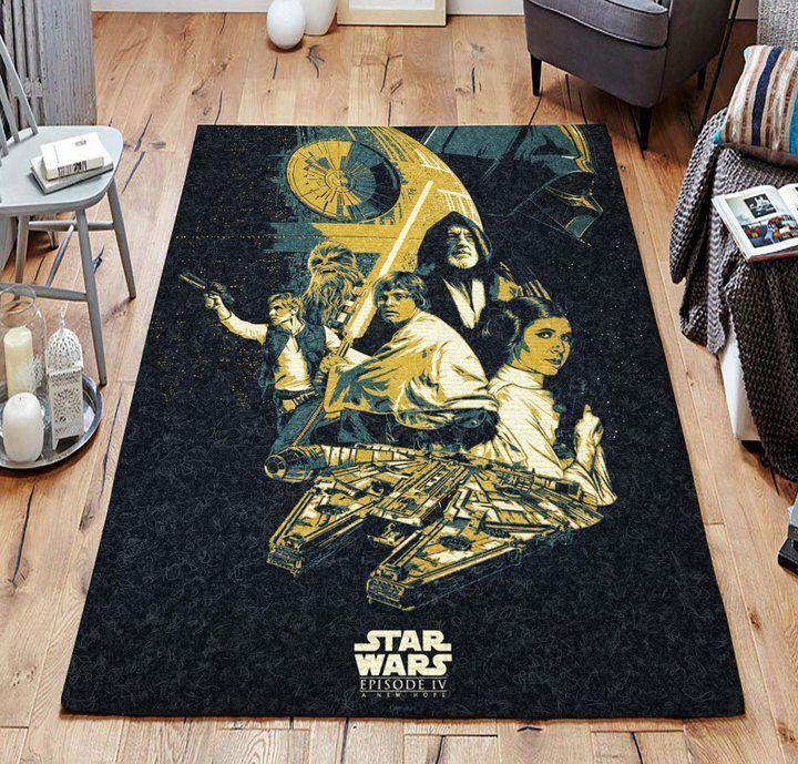 Luke Skywalker's Lightsaber Star Wars Rug