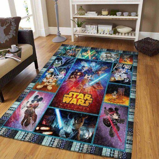 Mickey And Lightsaber Star Wars Rug
