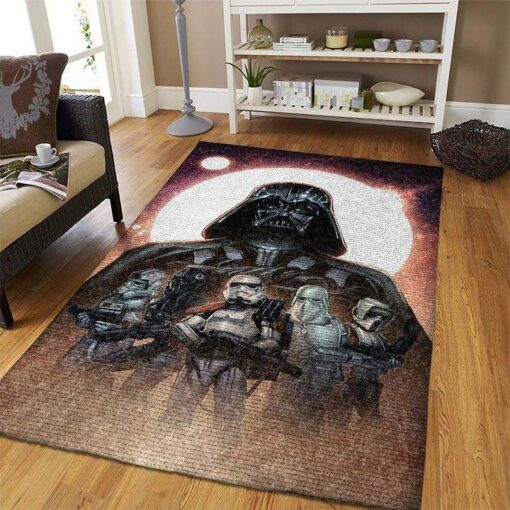 Darth Vader And Troopers Star Wars Rug