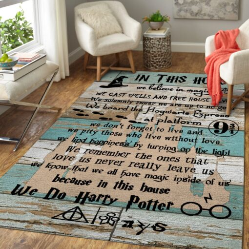 Harry Potter Quotes Area Rug