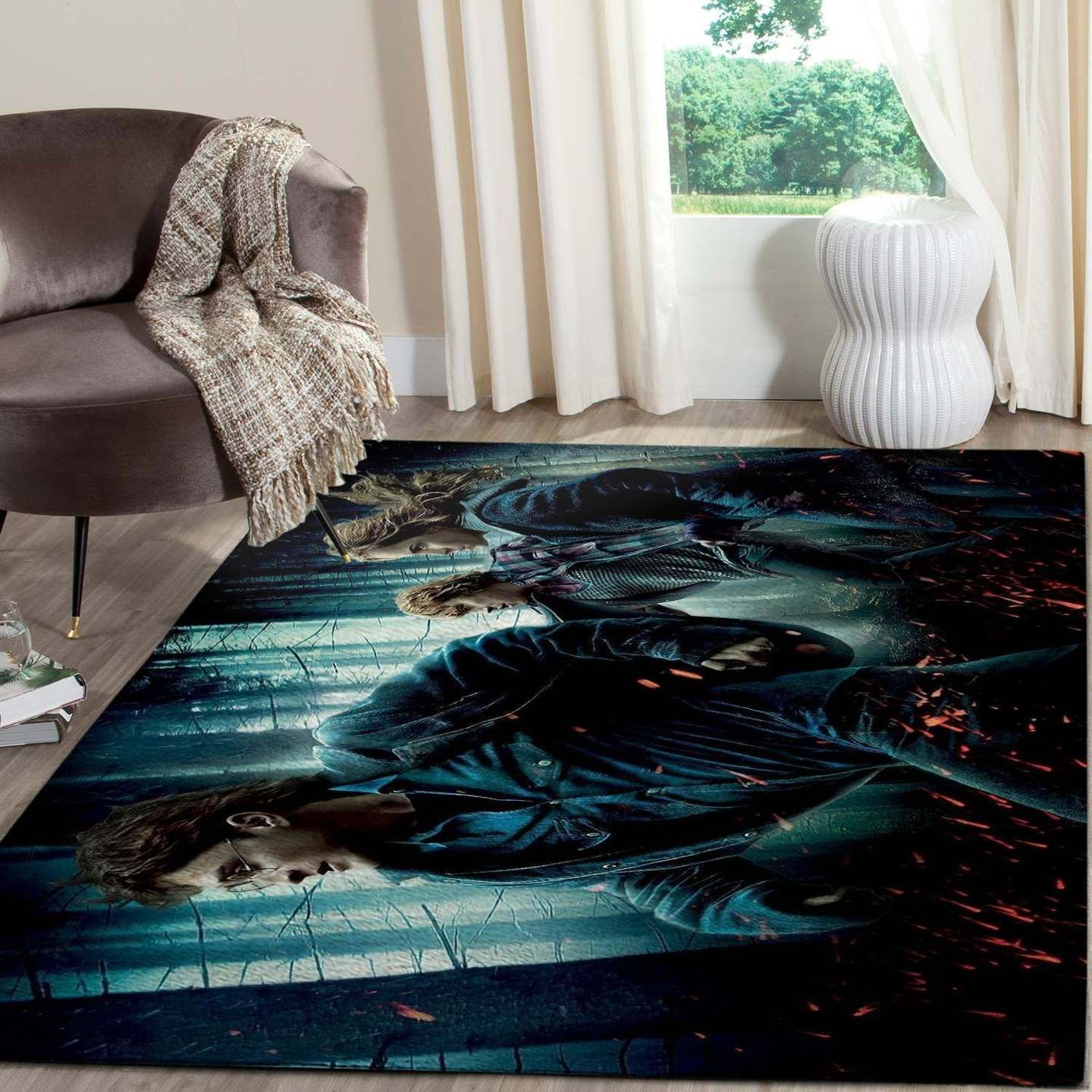 Harry Potter And Friends In The Forest Rug