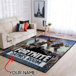 Customized Name Fortnite Area Rug