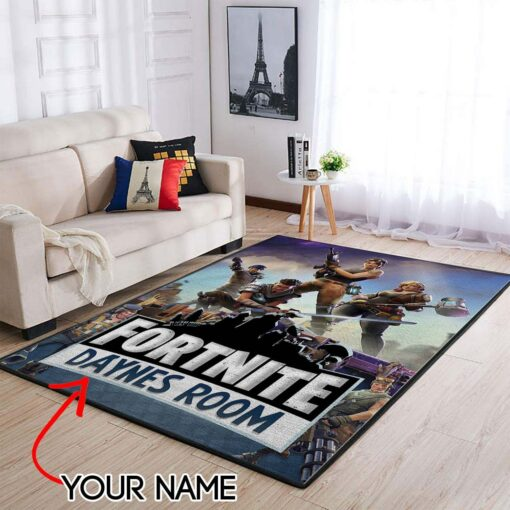 Customized Name Fortnite Area Rug