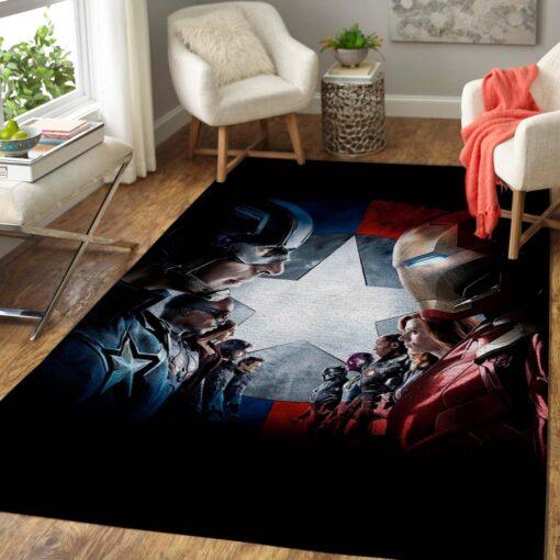 Civil War Marvel Bedroom Rug