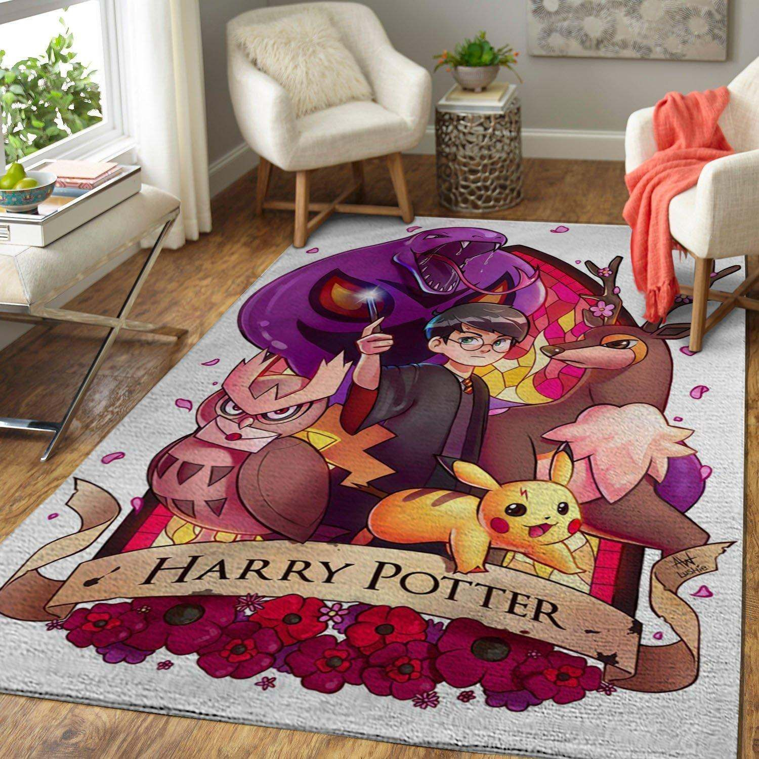 Pokemon And Harry Potter Rug