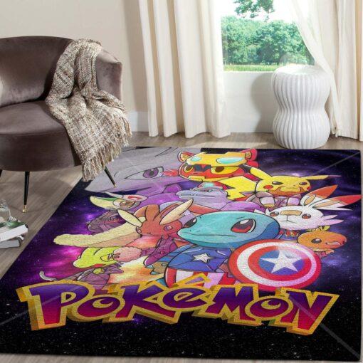 Pokemon Avengers Anime Rug