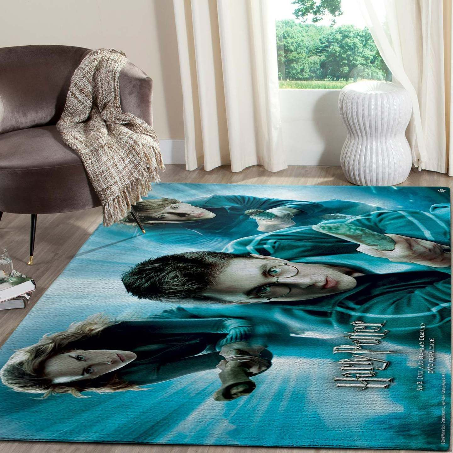 Harry Potter And Magical Flying Broomsticks Rug