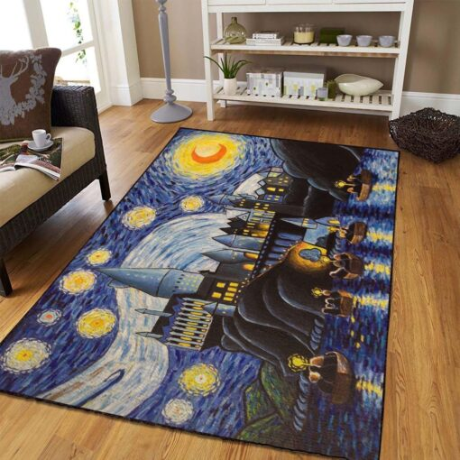 Hogwarts Starry Night Rug