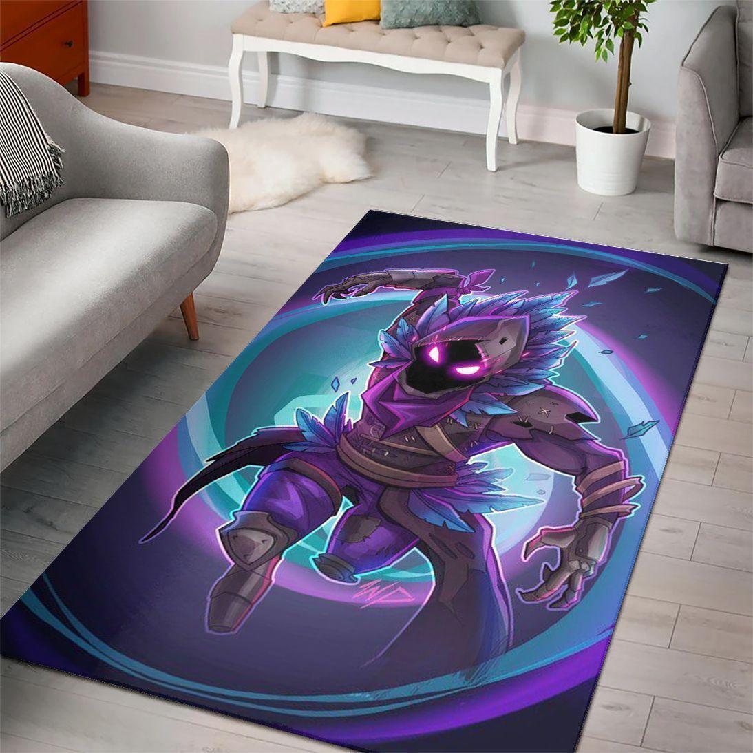 Raven Fortnite Epic Gaming Rug