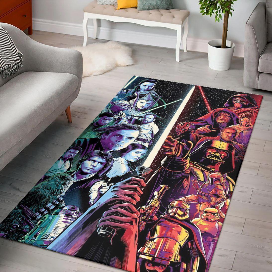 Kylo Ren's Lightsaber Star Wars Rug