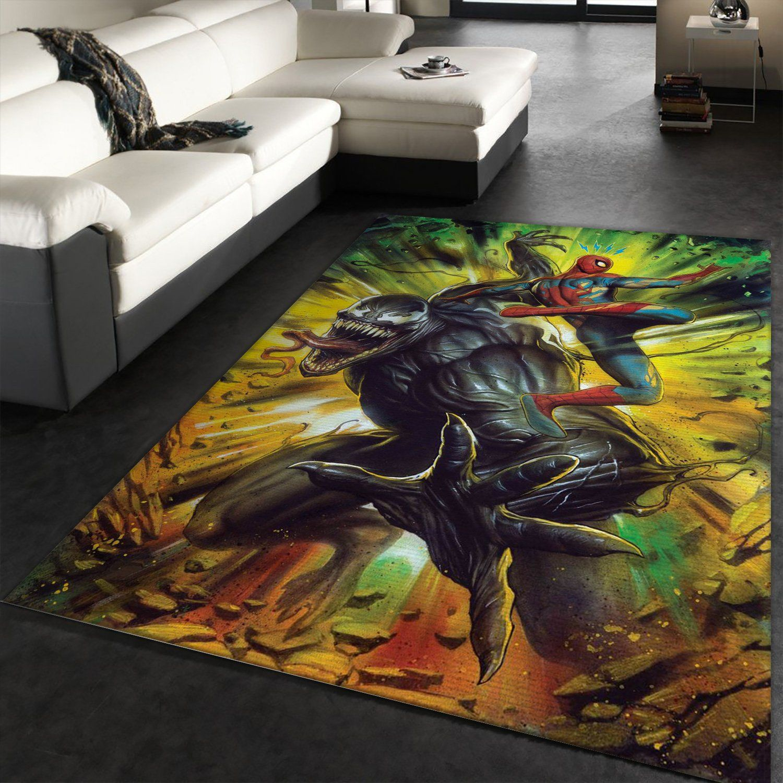 Venom And Spider Man Marvel Rug