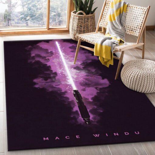 Lightsabers Mace Windu Star Wars Rug