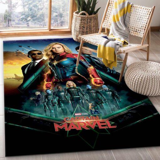 Captain Marvel Rug