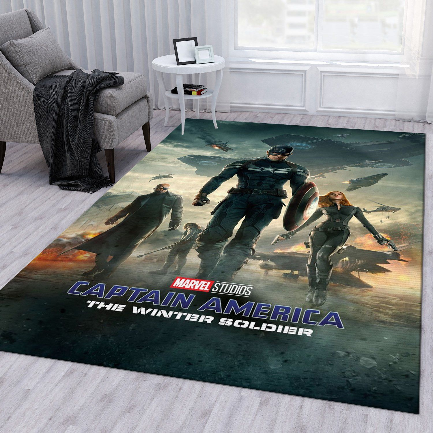 Captain America The Winter Soldier Rug