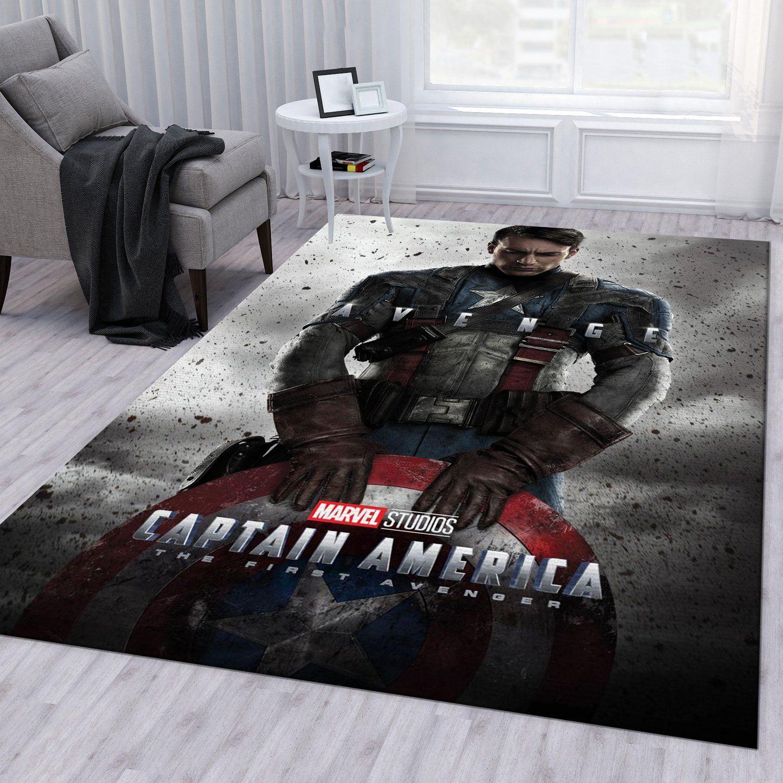 Captain America The First Avenger Rug