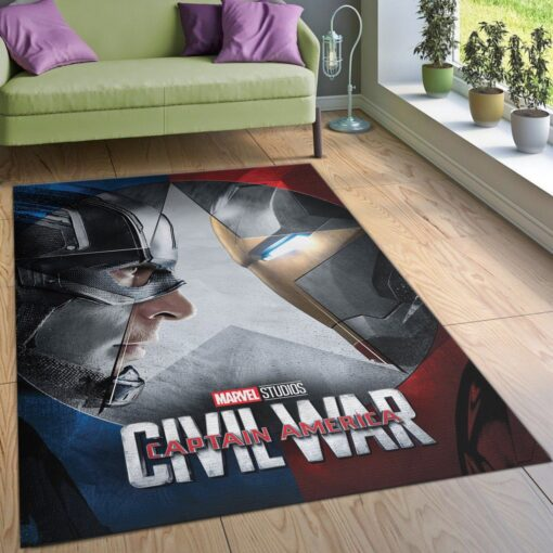 Captain America Civil War Rug