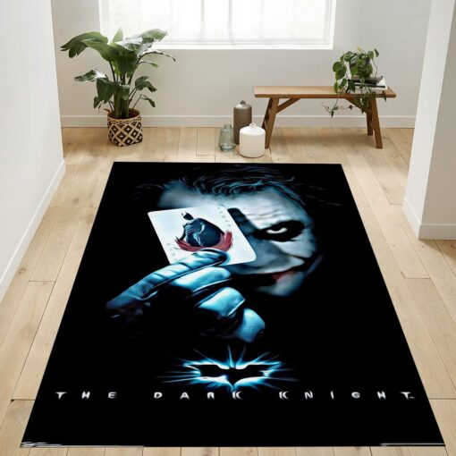 The Joker With Batman Playing Card Rug