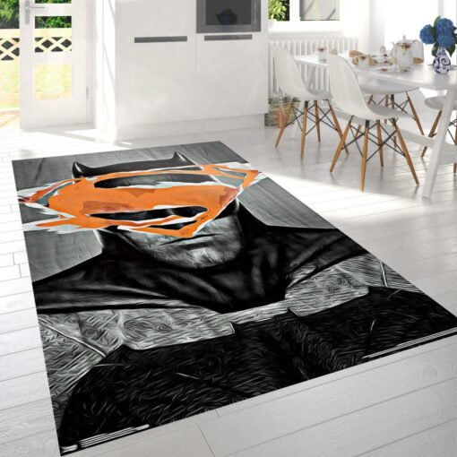 Batman V Superman Logo Rug