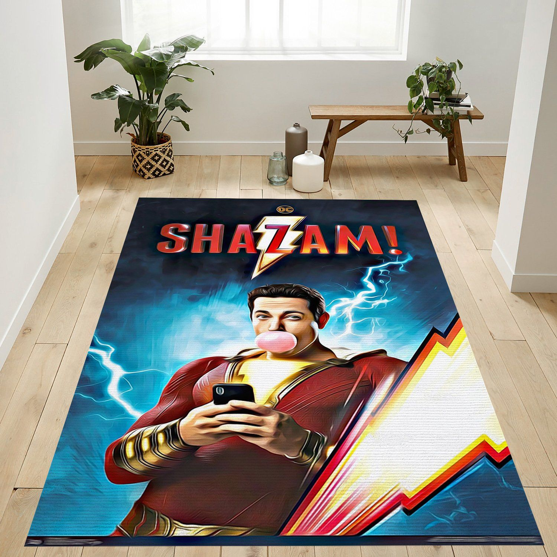 Shazam Superhero Rug
