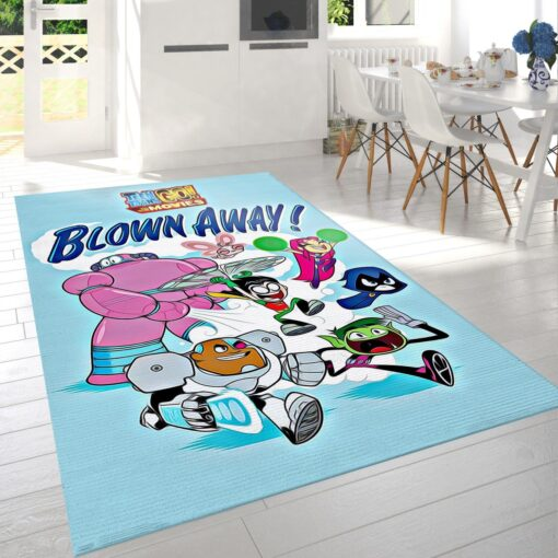 Teen Titans Go To The Movies Blown Away Rug