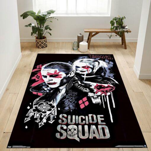 Joker And Harley Quinn Rug