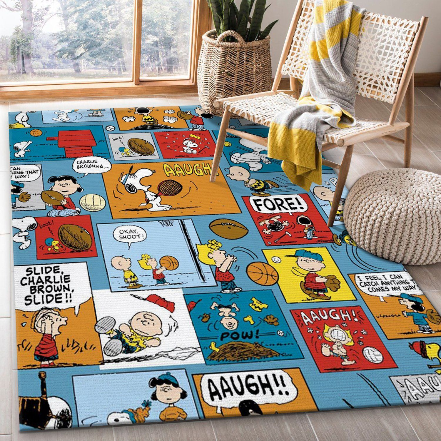 Snoopy Cartoon Rug
