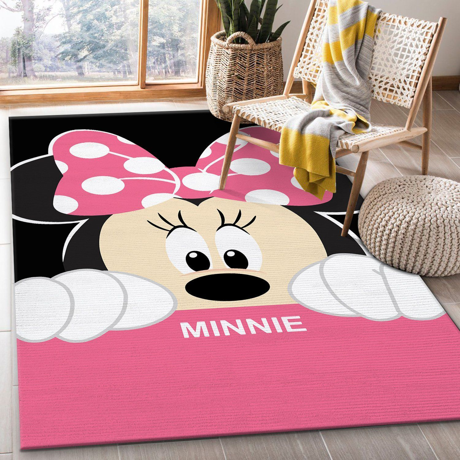 Minnie Mouse Disney Movies Rug