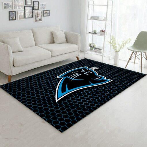 Logo Carolina Panthers Rug