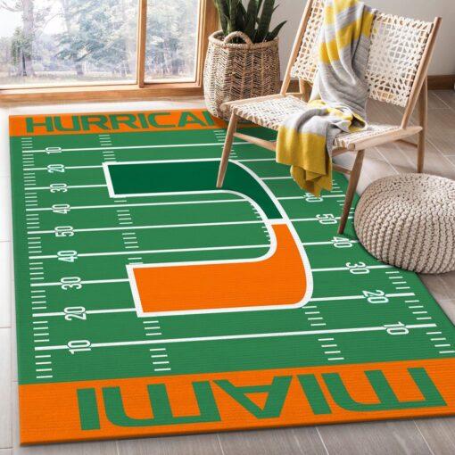 Miami Hurricanes NFL Rug