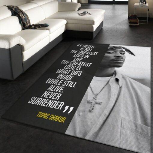 Tupac Shakur Music Rug