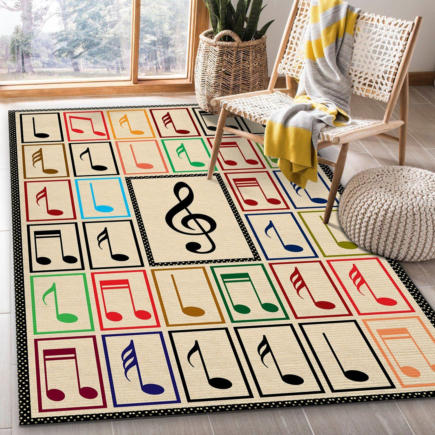Music Note Rug